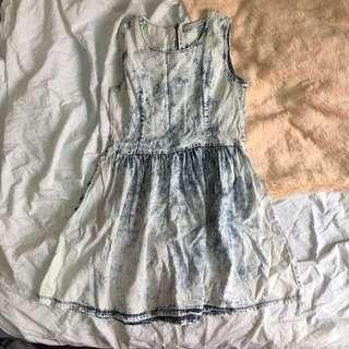 True Love Demin Acid Wash Dress