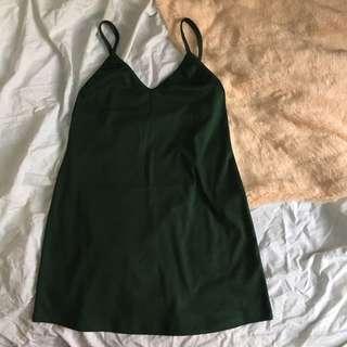 Green Slip On Dress