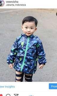 Jaket Anak dinosaurus bahan parasut