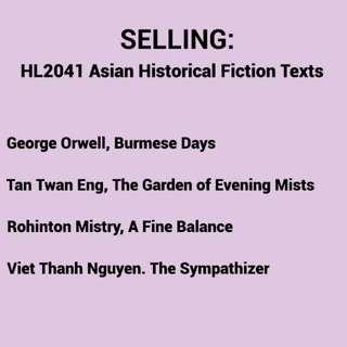 HL2041 Asian Historical Fiction Texts