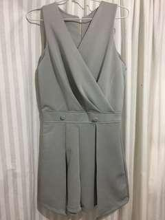 Grey short jumpsuit