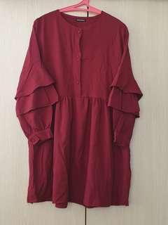 Noni Zakiah Red Blouse