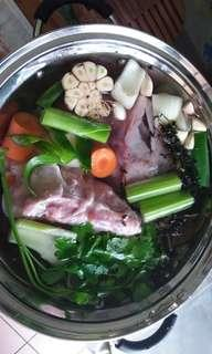 Home made chicken stock