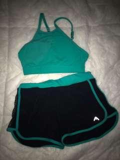Rockwear Green Croptop and Shorts