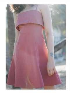 Flare dress in Salmon