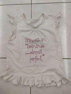 White 2-3yrs old top