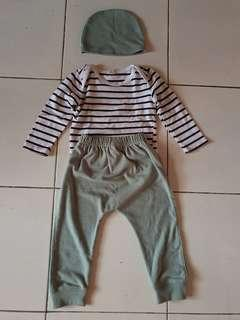 Set baju baby size 6-12 bln