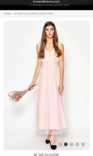 Love and Bravery Githa Tulle Dress in Blush Pink
