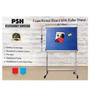 Foam Notice Board with Roller Stand