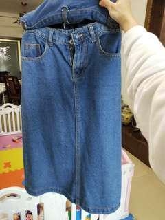 牛仔半身裙