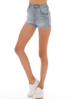 wrangler pin up denim shorts