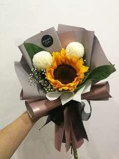 Mickey Sunflower fresh graduation bouquet