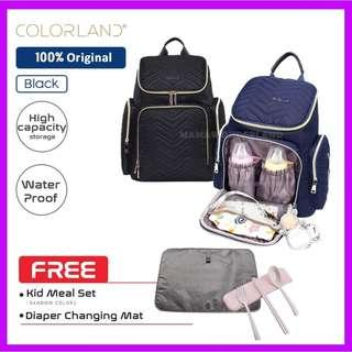 [FREE 3 gifts] Colorland Georgia Diaper Backpack Waterproof Fashion Mommy Bag