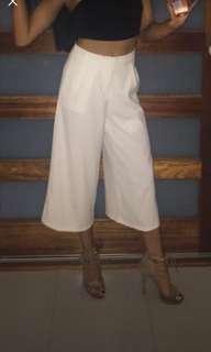 White 3/4 Pants