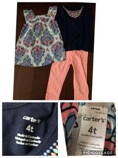 Take all baju anak perempuan authentic carters next 3y