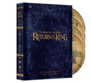 《魔戒三部曲:王者再臨》加長版 4 DVD 盒裝