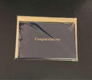 絨布祝賀祝福卡congratulations - 寶藍色
