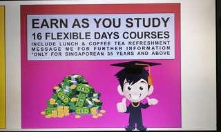Earn incentive as you study short term diploma