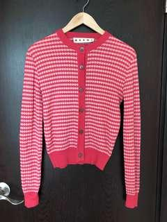 Marni designer sweater in pink/red