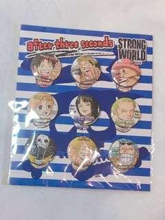 🚚 航海王 ONE PIECE 電影STRONG WORLD徽章