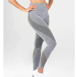 Ryderwear Grey Seamless Gym Tights Leggings XS