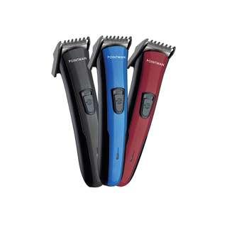 Pointman Hair Trimmer cord and cordless operated. Black, Blue, Red PM003