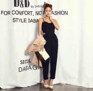 🚚 BN peekaboo waist full length romper sleeveless