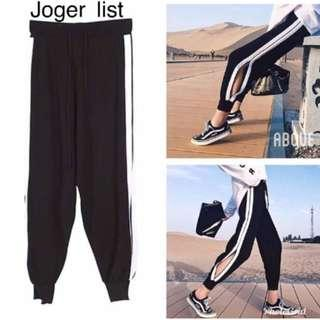 black jogger (swipe real pic)