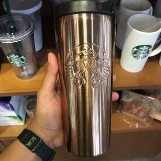 Tumblr Starbucks Gold Stainless