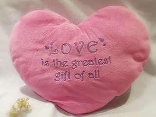 Heart Shaped Cushion in Pink
