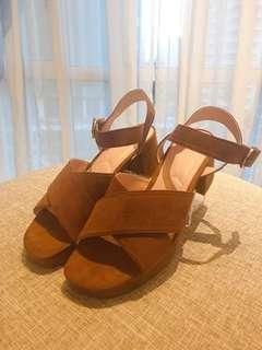 Zara TRF High Heel Platform Sandals