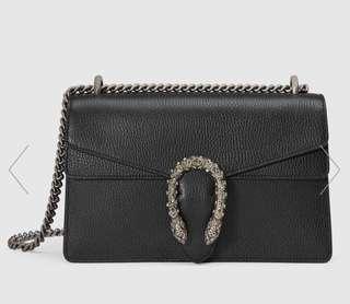 Gucci Dionysus black leather bag