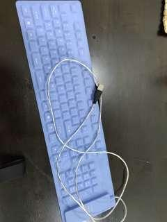 Fold able soft keyboards computer