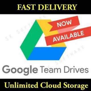 Google Team Drives (Unlimited, Lifetime, Use Existing Gmail ID)