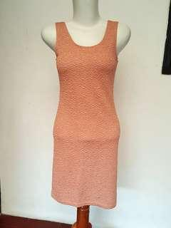 Mini Dress / Bodycon / Dress Murah / Peach Dress / Casual Dress
