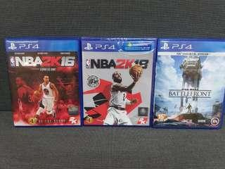 PS4 games共3隻!