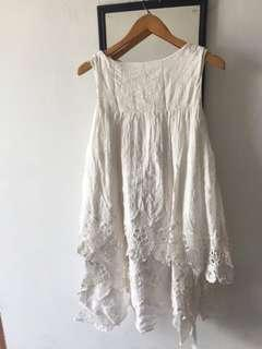 White Lace Top dress import Preloved