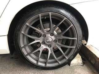 Breyton GTS rims - BMW 118i