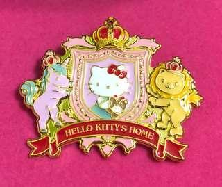 Hello Kitty 皇冠鍍金徽章 杭州樂園限定