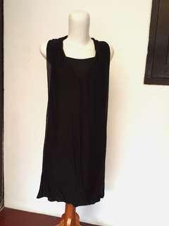 Dress Hitam Pesta Casual / Dress pesta / Dress Casual / Dress Murah
