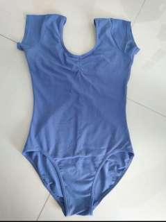 1st position blue cap sleeve ballet leotard
