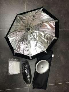 神牛專用反光柔傘