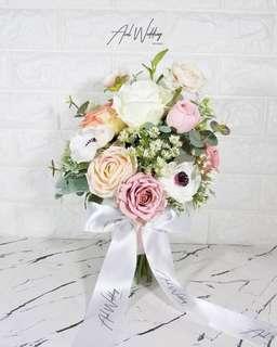 定製粉紅色結婚絲花球💐Tailor made Wedding bouquet