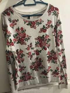 H&M flowery long sleeve