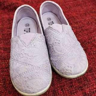 🚚 二手女童粉紫休閒鞋30碼 鞋長21公分