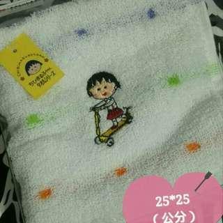 🚚 日本帶回  正版小丸子  刺繡手巾