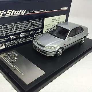 誠徵 誠徵 1:43 HI STORY HS143SL HONDA CIVIC Ferio Si II sedan type R SiR Silver 銀色 誠徵 誠徵