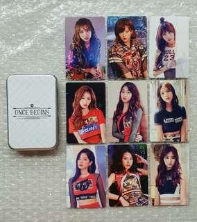 "TWICE ""ONCE BEGINS"" Photocards [Official]"