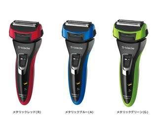 日本製造! 全新日立 Hitachi LF463 S-Blade 4刀片電動剃鬚刨 3D 浮動刀頭 乾濕兩用 全機防水 世界電壓 金屬藍, 綠, 紅三色