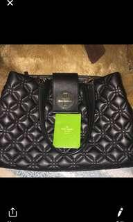 Kate Spade Quilted black leather tote bag